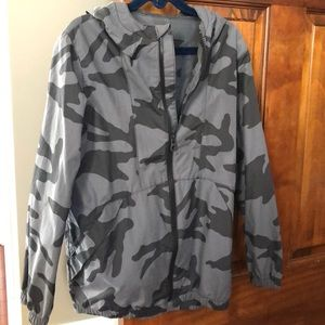 Boys GapKids Grey Camo Rain jacket. Never used.